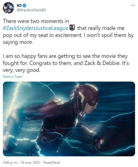 Zack Snyder's Justice League mejor conocido como el Snyder Cut está superando las expectativas con estas primeras críticas positivas.