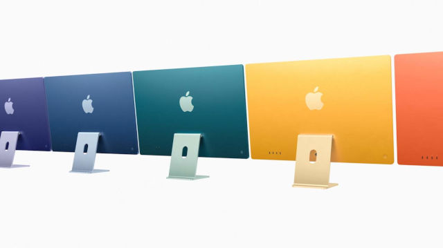 Apple revela su línea de iMac de 2021