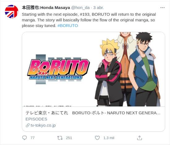 El anime de Boruto retomará el camino del manga