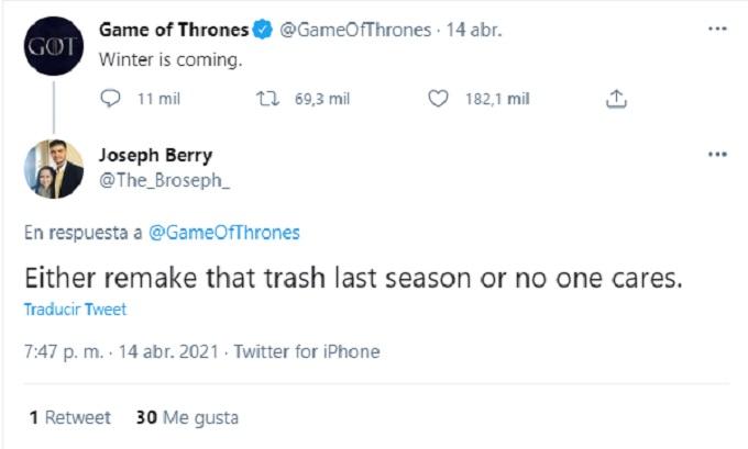 Game of Thrones comentario