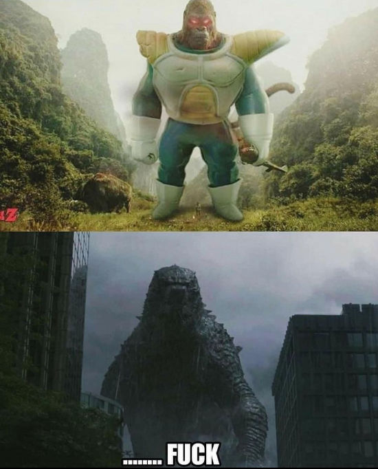 Godzilla contra Vegeta de Dragon Ball como simio gigante, un duelo injusto