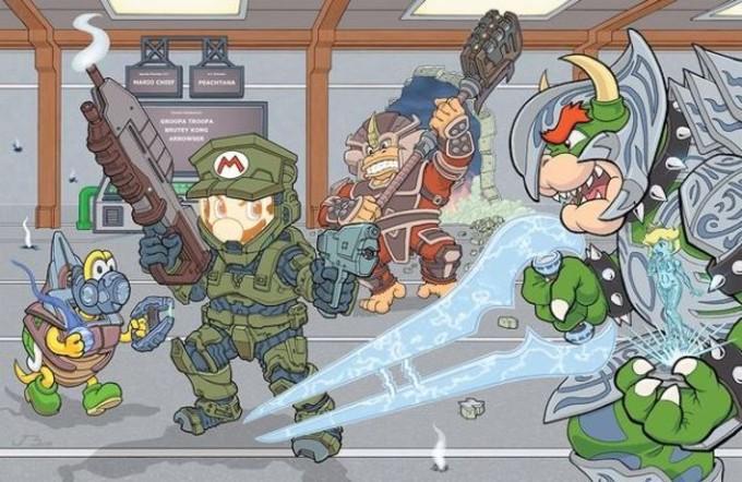 Mario Halo Nintendo