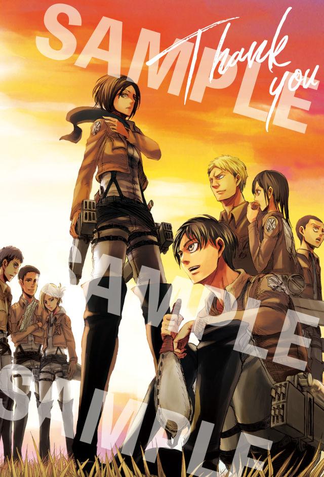 Creador de Shingeki no Kyojin despide el manga con postales