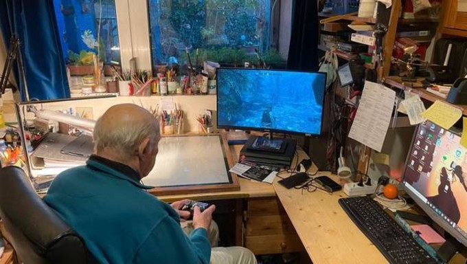 Abuelito gamer Skyrim