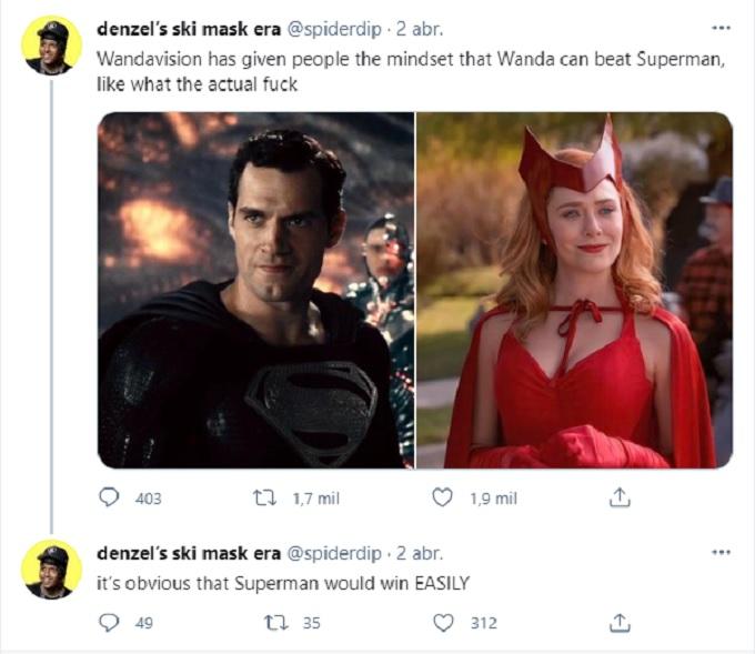 Wanda Superman tweets