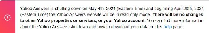 Yahoo Respuestas Cierre
