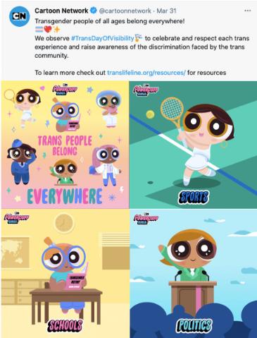 Cartoon Network en el día de la Visibilidad Trans #TransDayOfVisibility Trans Day of Visibility