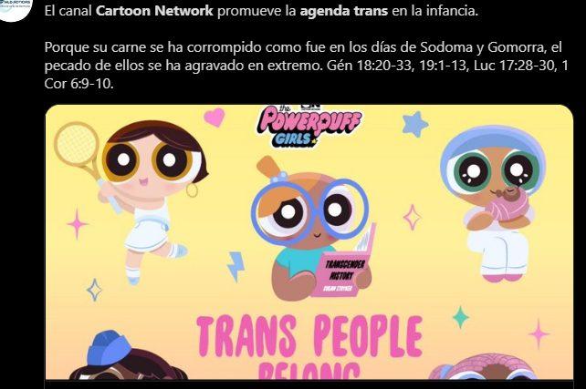 tweet sobre Cartoon Network en el día de la Visibilidad Trans #TransDayOfVisibility Trans Day of Visibility
