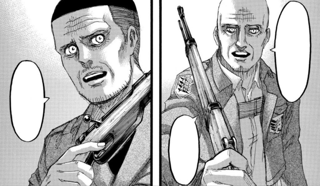 Attack on titan 139 final manga theo magath keith shadis