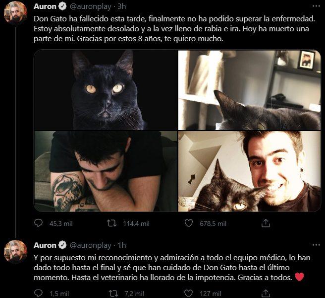 tweet sobre don gato auronplay
