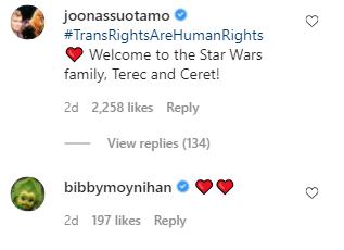 star wars personajes trans no binarios