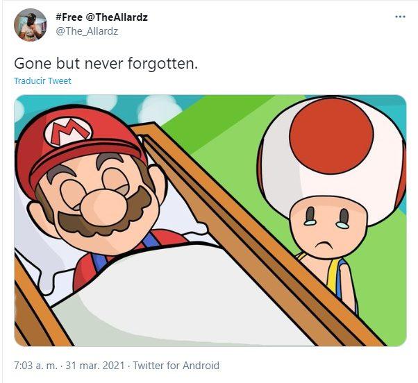 Mario muerte Nintendo