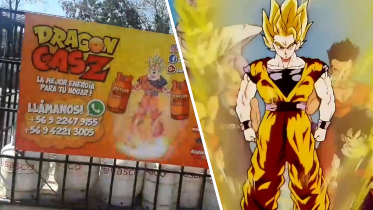 Chilenos usan Dragon Ball Z para promocionar su negocio de gas