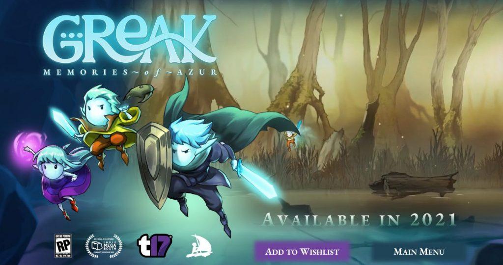 videojuegos mexicanos Greak: Memories of Azur. Juego indie mexicano de plataformas. Tierragamer