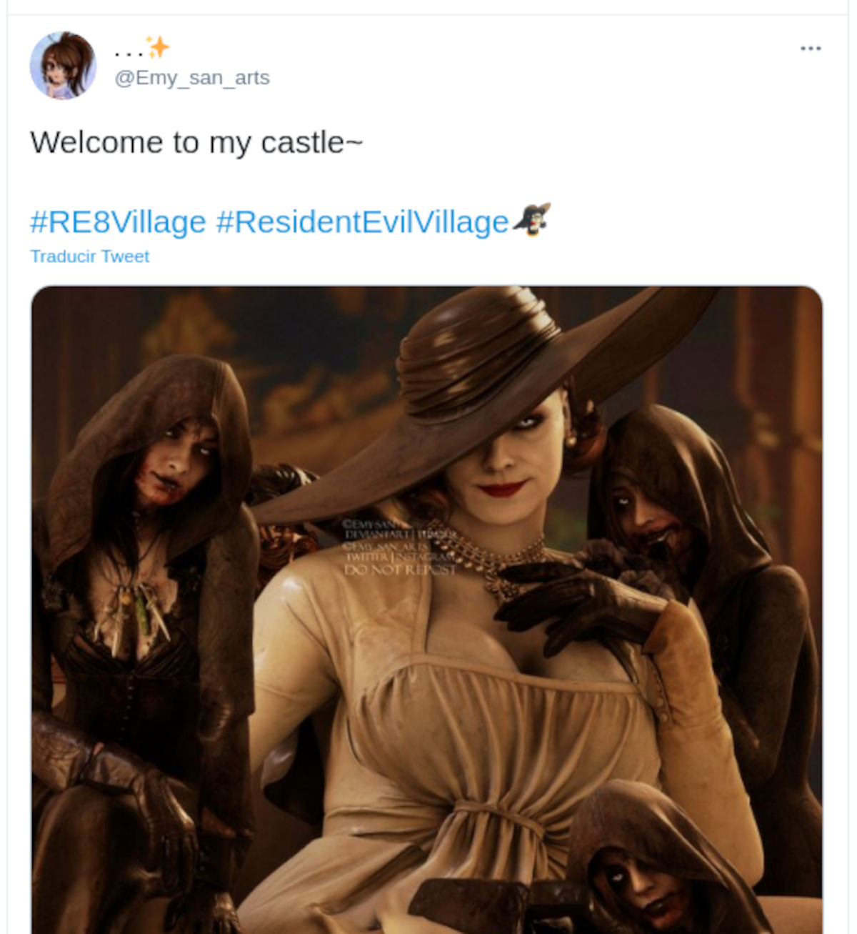 Lady Dimitrescu de Resident Evil: Village invade Twitter