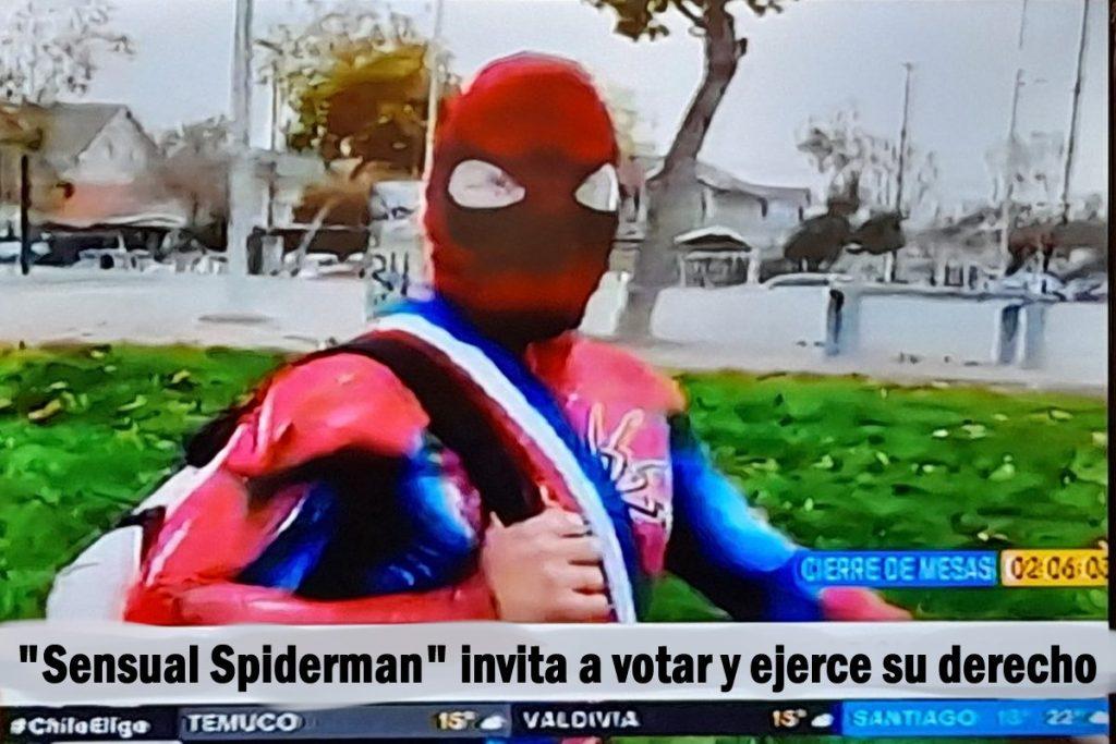 Sensual spiderman, cosplay otaku Chile nueva constitución. Tierragamer