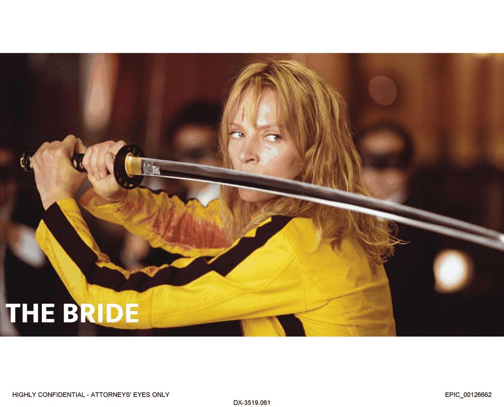 the bride, kill bill, skin