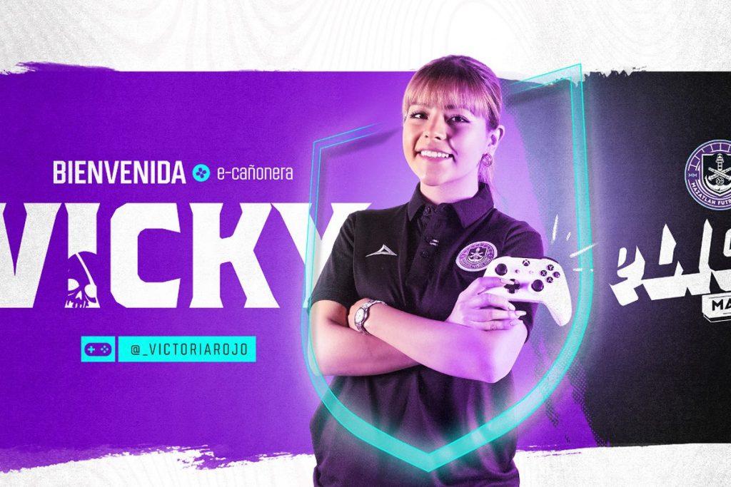 Viko Rojo, nueva videojugadora del Mazatlán FC esports