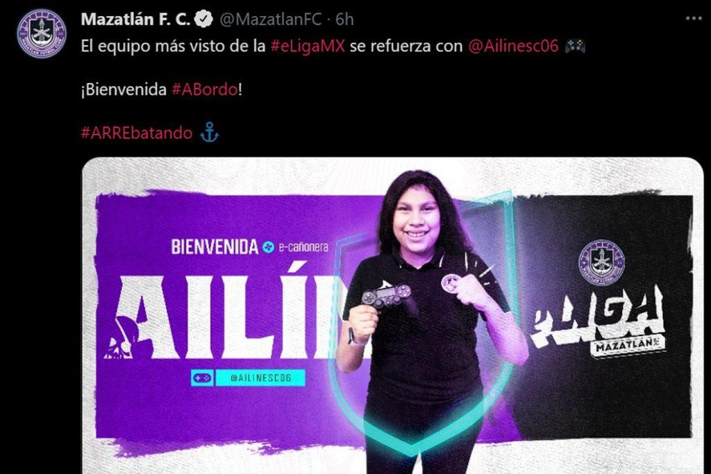 Ailinesc06 es fichada para el Mazatlán FC en la Liga MX