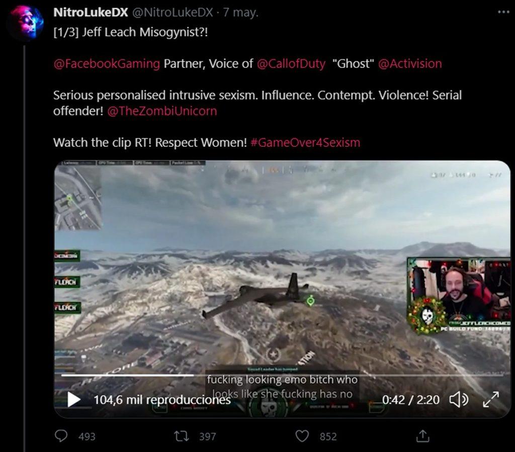 Call of Duty, streamers denuncian acoso sexual de Jeff Leach