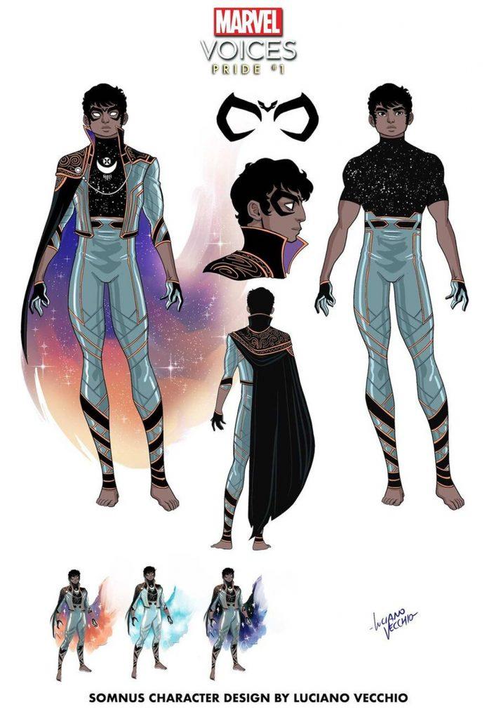 Marvel's new mutant Somnus LGBT Pride Voice's. Lucciano Vecchio. TierraGamer