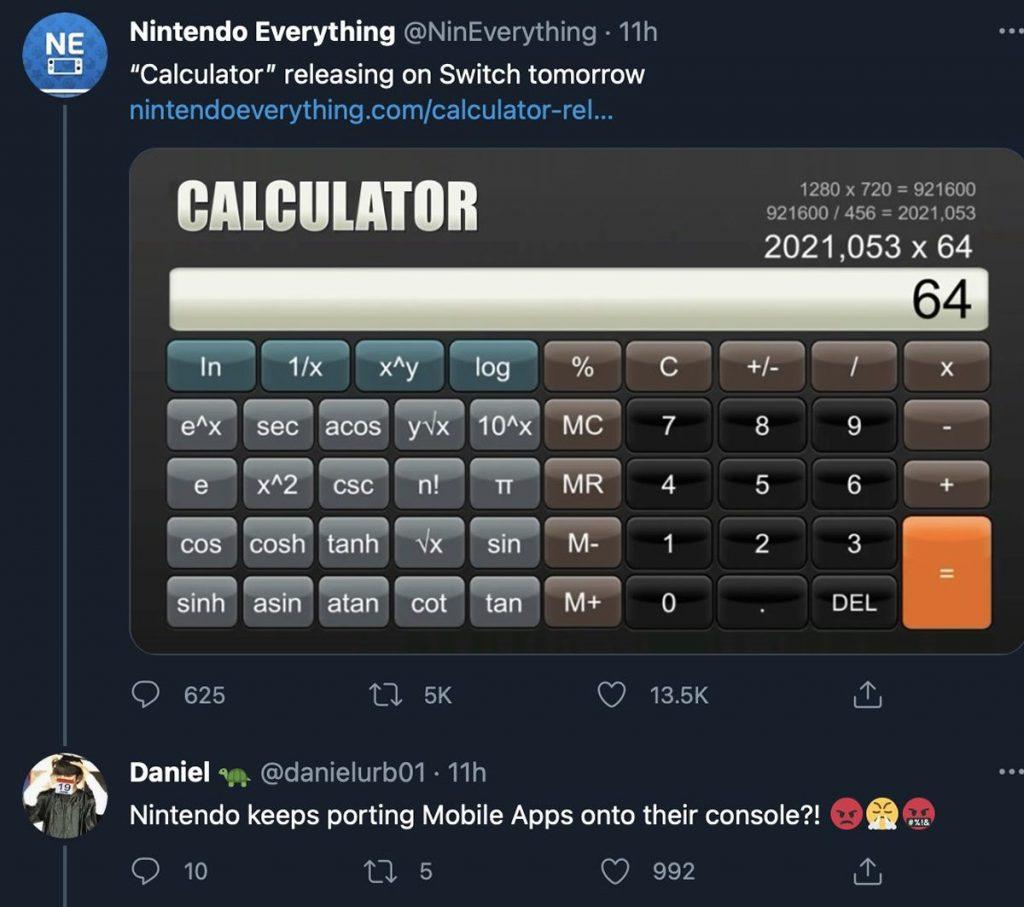 Nintendo Switch calculator calculadora TierraGamer.