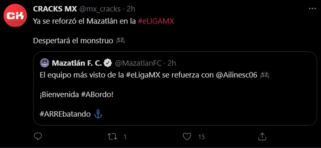 Ailinesc06 es fichada para el Mazatlán FC