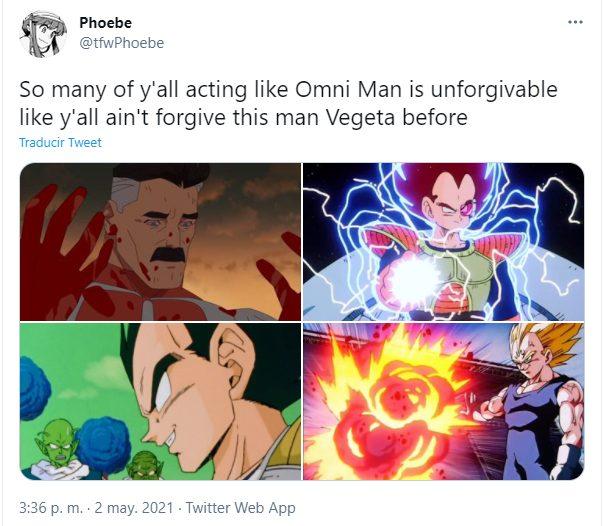 Omni-Man Vegeta Dragon Ball Invincible