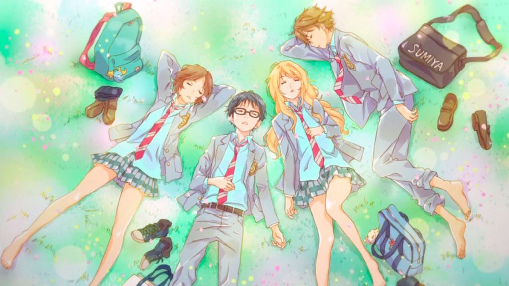 Your Lie in April anime triste