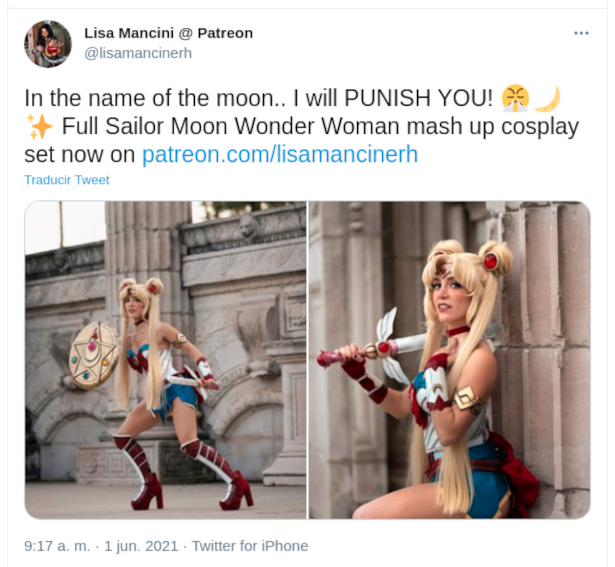 Wonder Woman y Sailor Moon reunidas en un cosplay