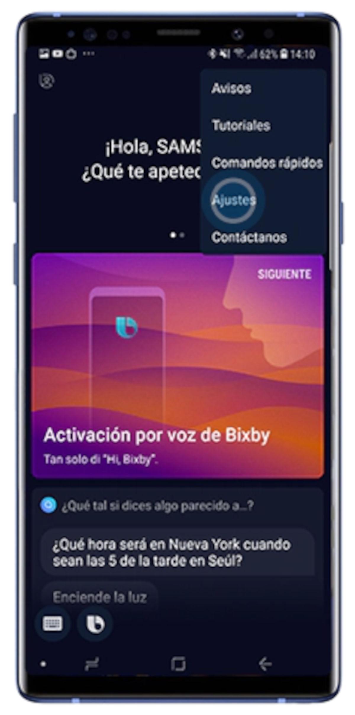 Sam y cómo activar el asistente de voz de Samsung
