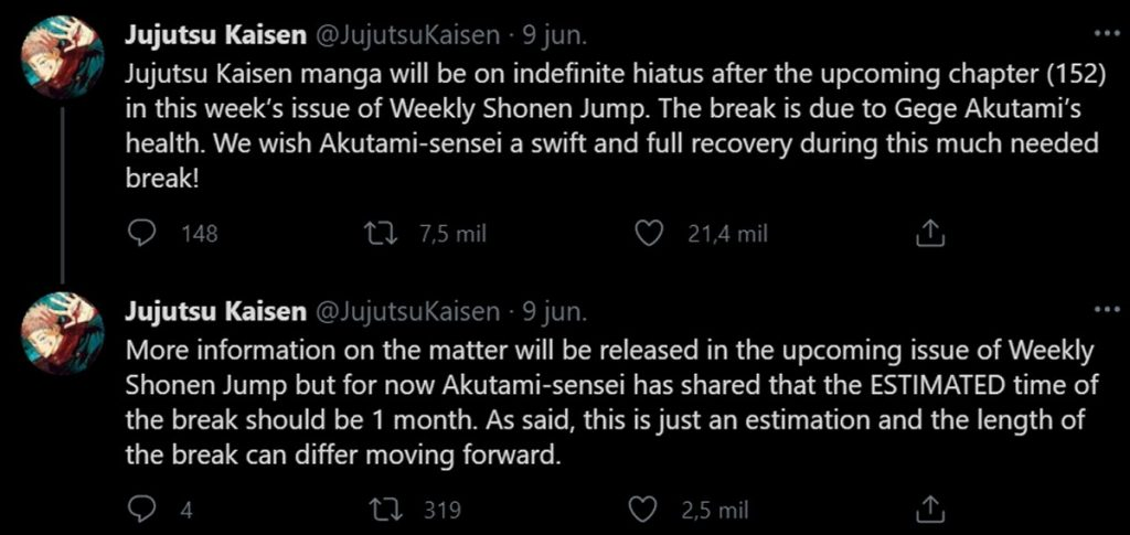 Jujutsu Kaisen fans support Gege Akutami